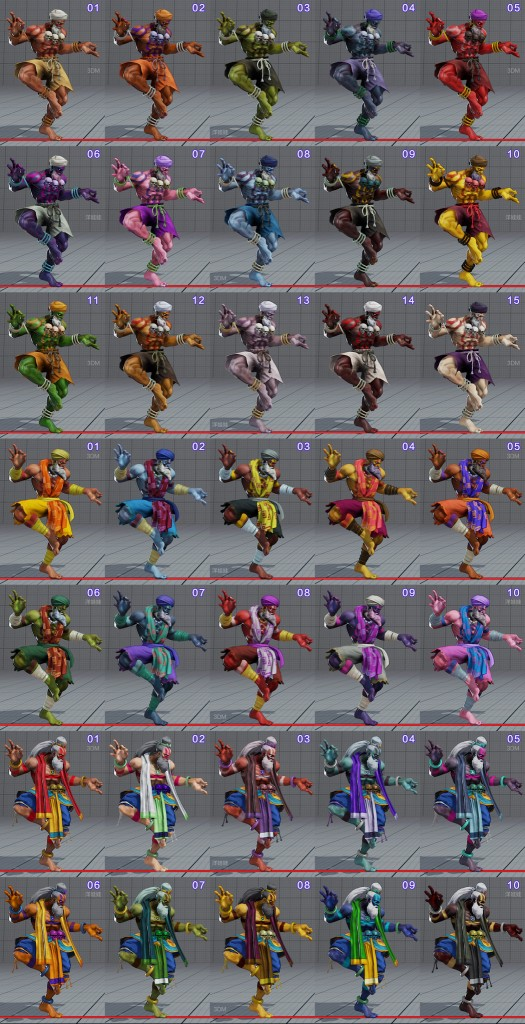 street fighter 5 costumes et couleurs 03