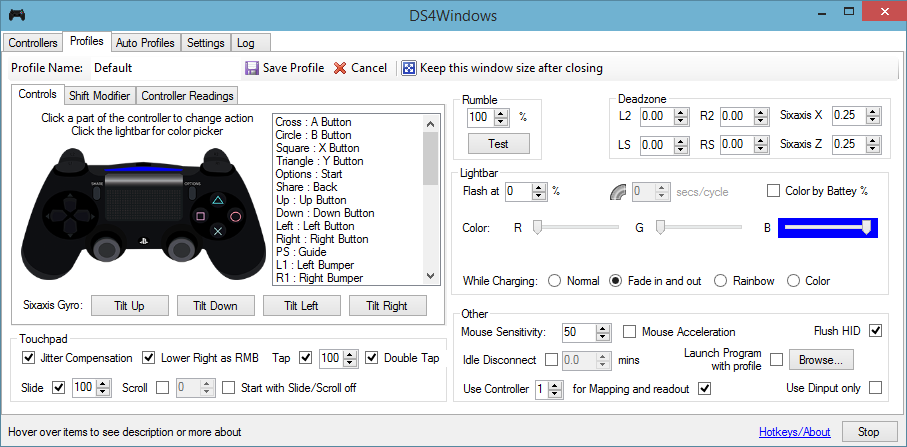 interface ds4 windows