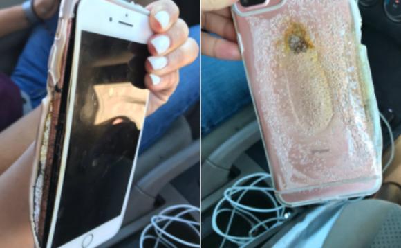 iPhone 7 plus batterie brule