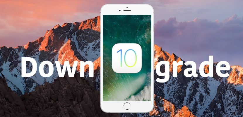 downgrade iOS 10.3