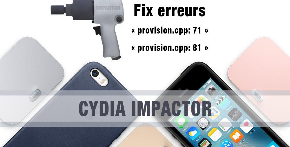 fix erreur cydia impactor