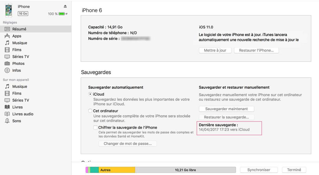 iPhone downgrade ios 11 iCloud