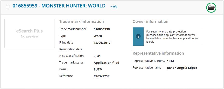 monster hunter world capcom marque depot