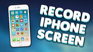 enregistrer iPhone
