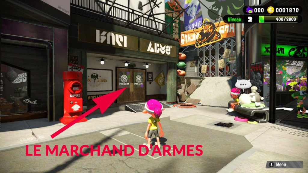 splatoon 2 guide marchand armes