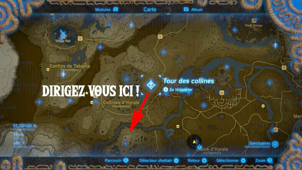 Guide zelda breath of the wild filet archeonique tour des for Bureau zelda