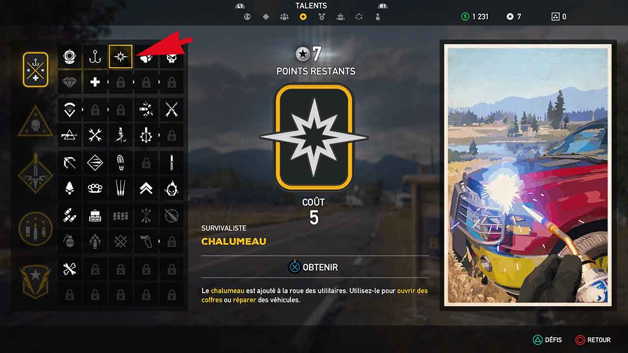 competence-survivaliste-chalumeau-far-cry-5