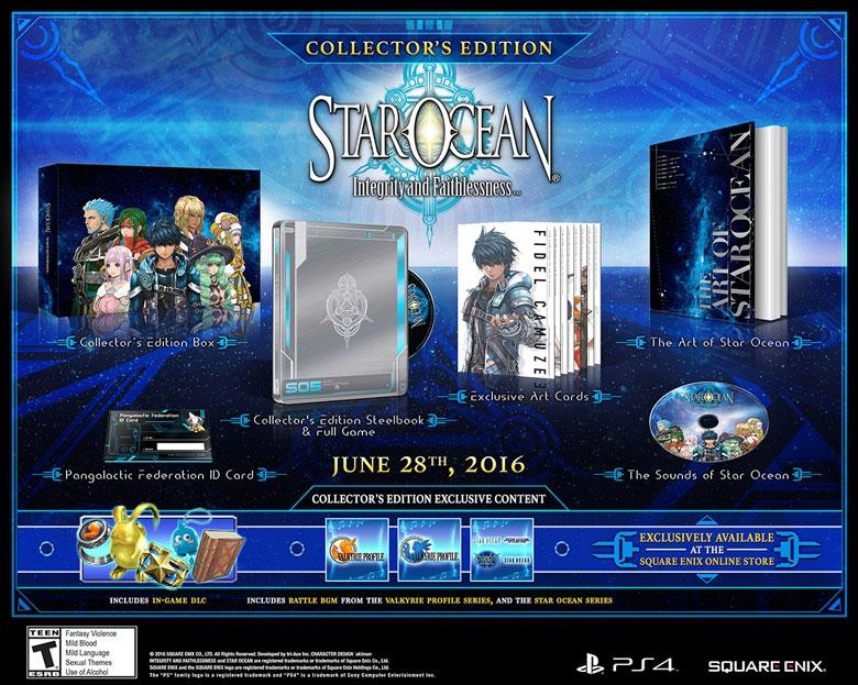 star ocean 5 collector PS4