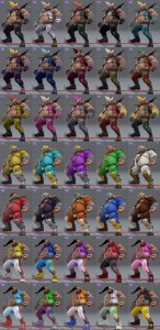 street fighter 5 costumes et couleurs 04