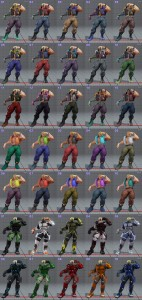 street fighter 5 costumes et couleurs 05