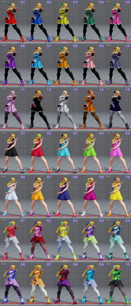 street fighter 5 costumes et couleurs 18