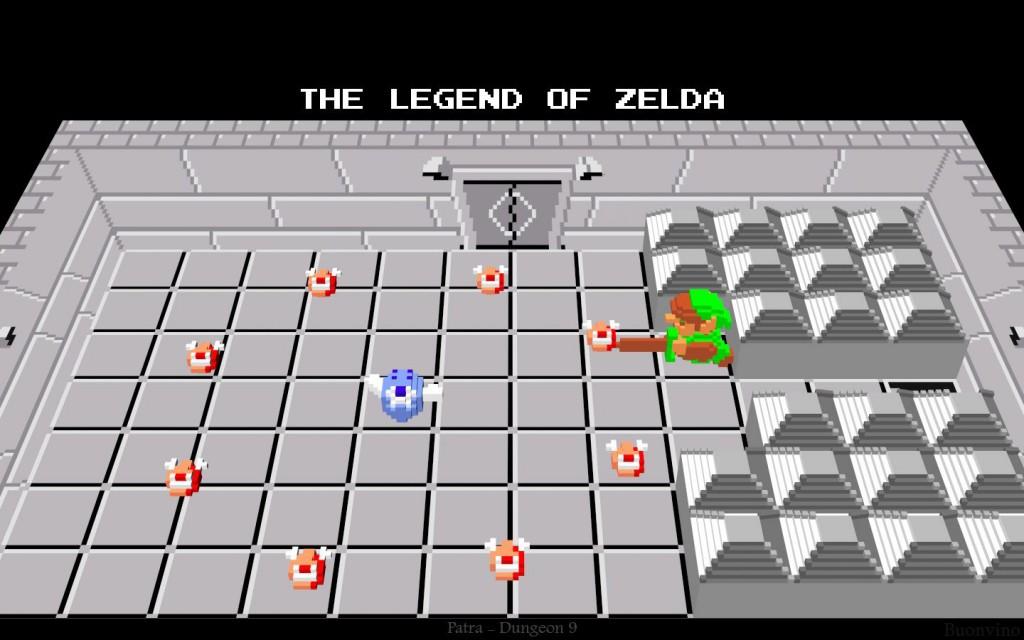 zelda tribune jeu gratuit voxel 3D 01
