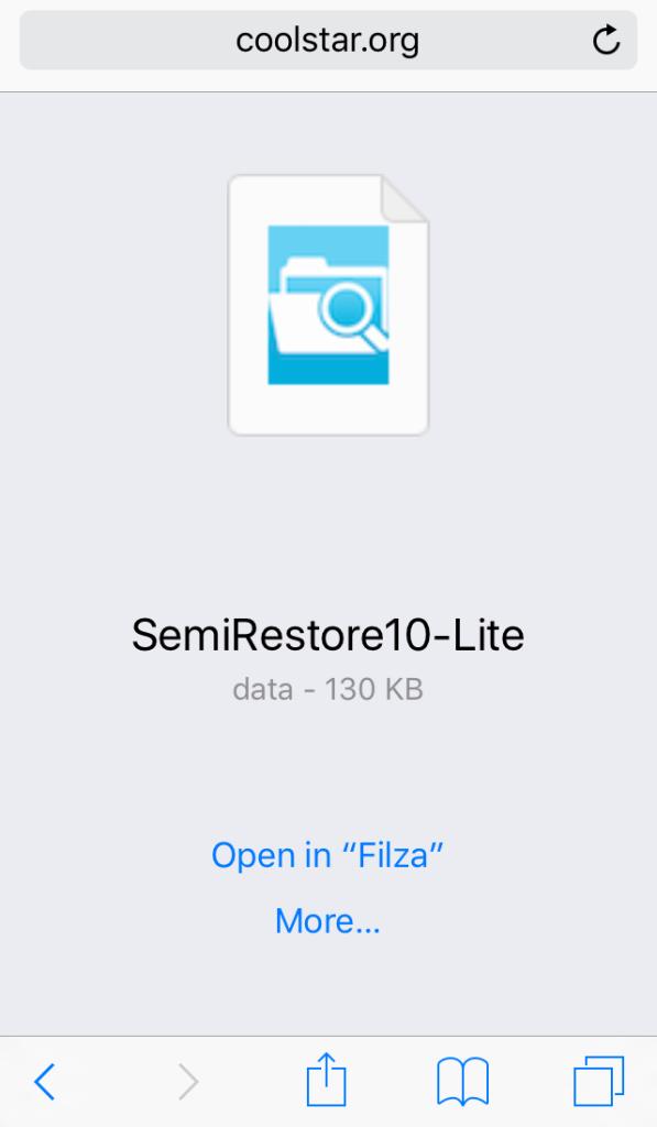 semi restore téléchargement iphone