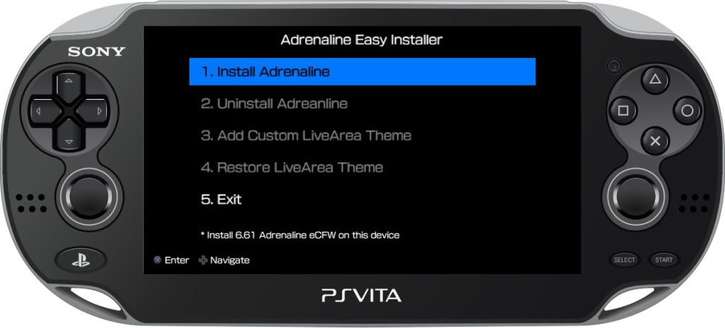 adrenaline easy installer