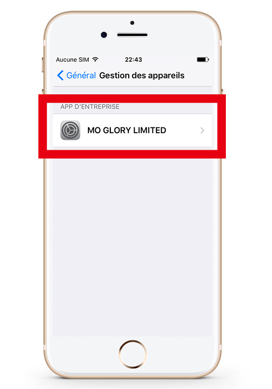 gestion certificat apple