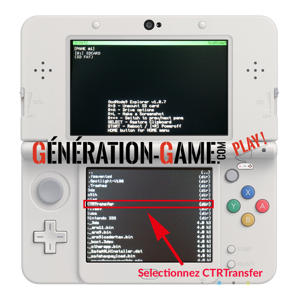 restauration nand 3ds