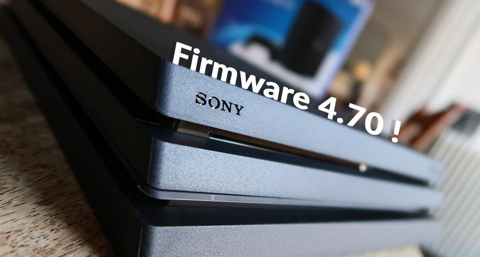 sony firmware 4.70