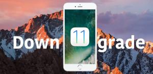guide downgrade iOS 11