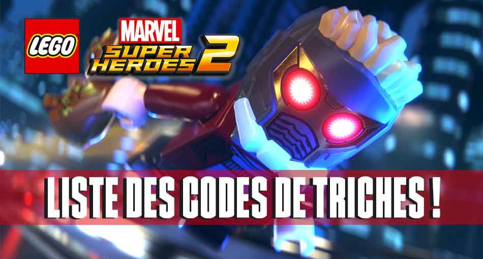 lego marvel super heroes 2 la liste de tous les codes de triches generation game. Black Bedroom Furniture Sets. Home Design Ideas