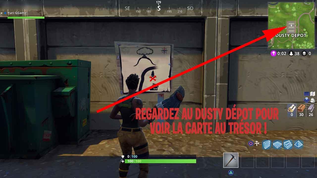 Carte Au Tresor Trouver A Dusty Depot.Carte Au Tresor Dusty Depot Fortnite Generation Game
