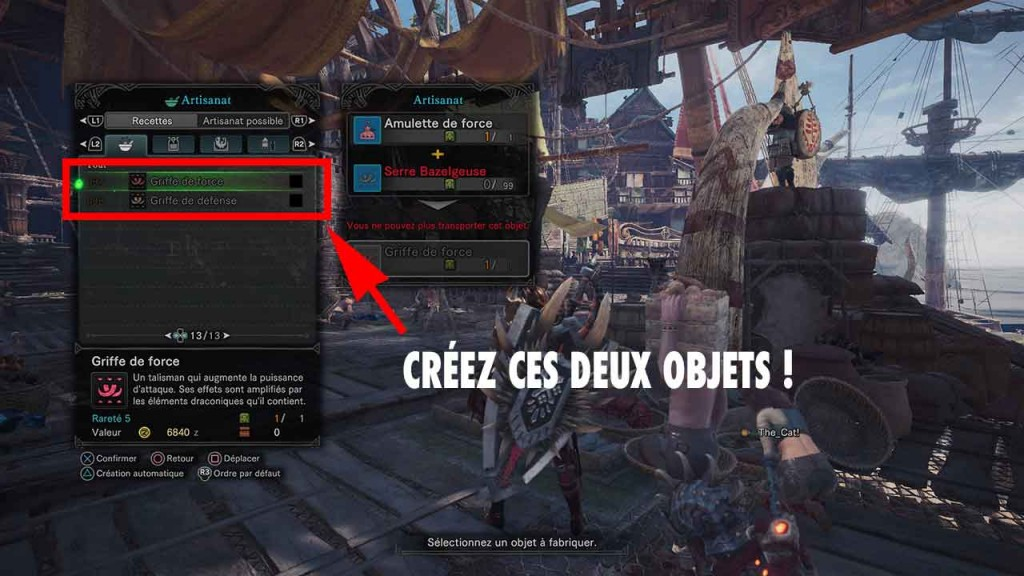 griffe-de-force-et-de-defense-monster-hunter-world