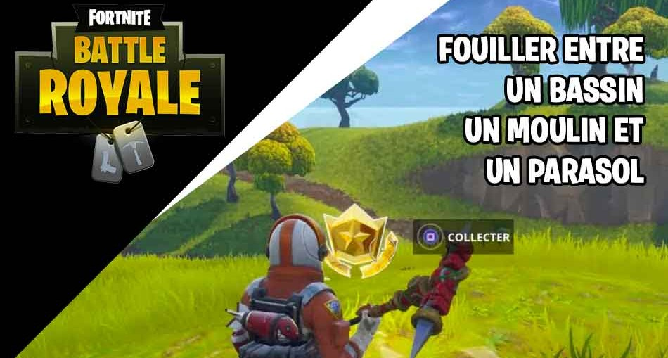 guide fortnite comment finir le d fi de fouiller entre un. Black Bedroom Furniture Sets. Home Design Ideas