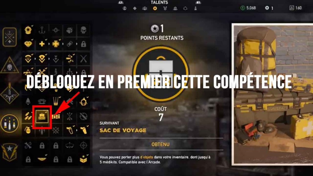glitch-argent-infini-far-cry-5-talent-sac-de-voyage