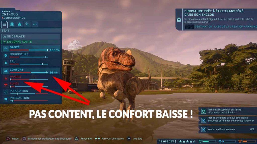 Jurassic-World-Evolution-astuce-confort