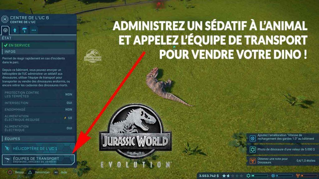 Jurassic-World-Evolution_tuto-vendre-dinosaures