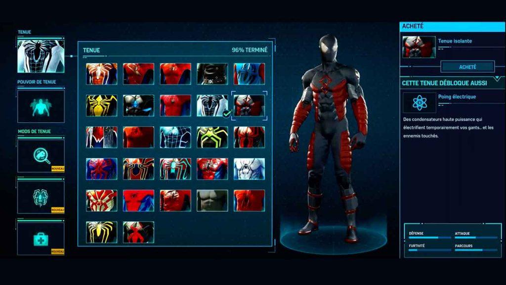 tenue-isolante-de-spiderman-sur-ps4