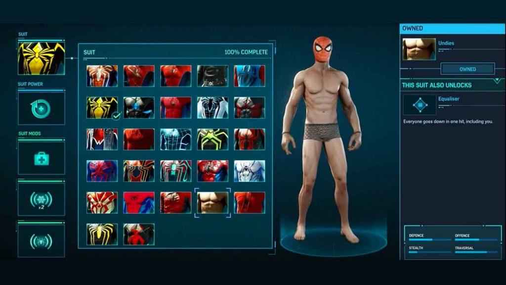 tenue-sous-vetements-de-spiderman-sur-ps4