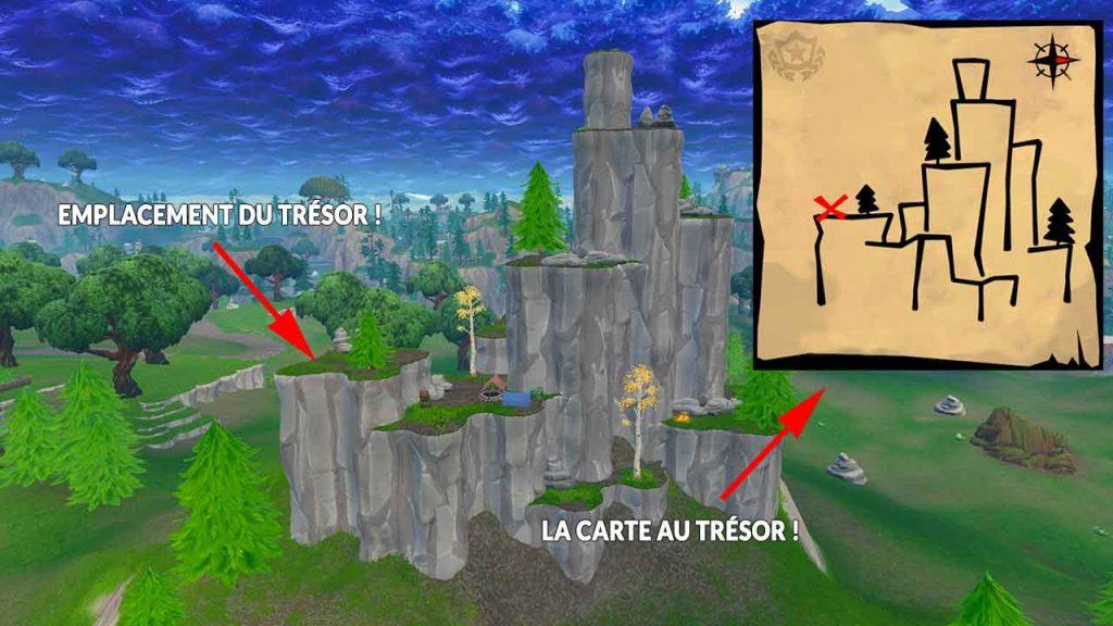 carte au tresor shifty shaft Fortnite où se trouve le trésor de la carte au trésor de Shifty