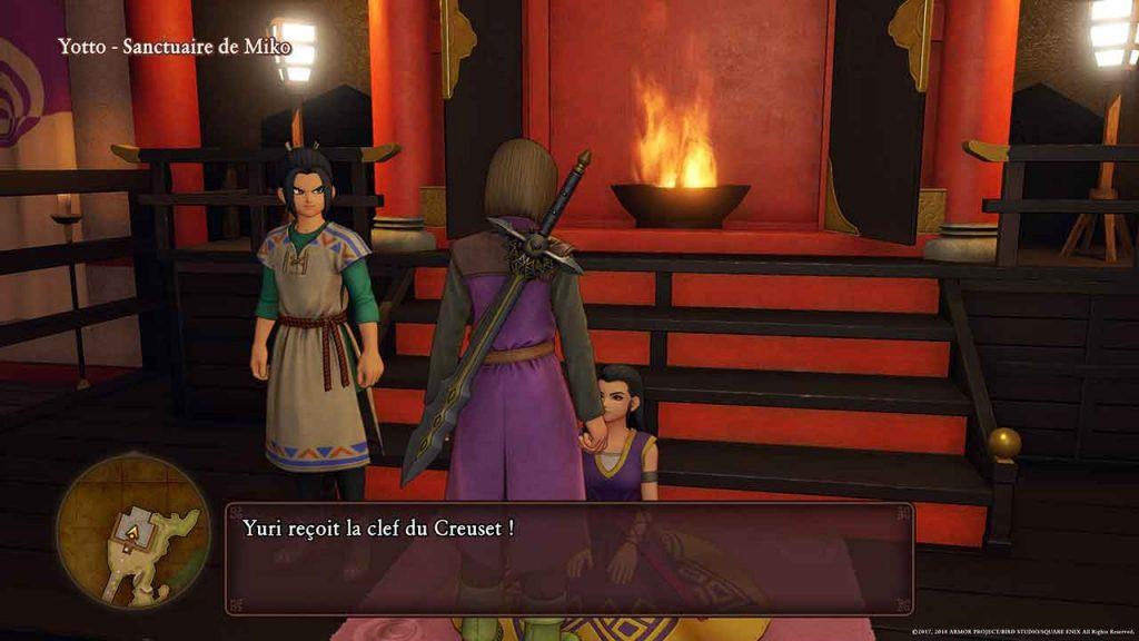 dragon-quest-11-sanctuaire-miko-clef-du-creuset