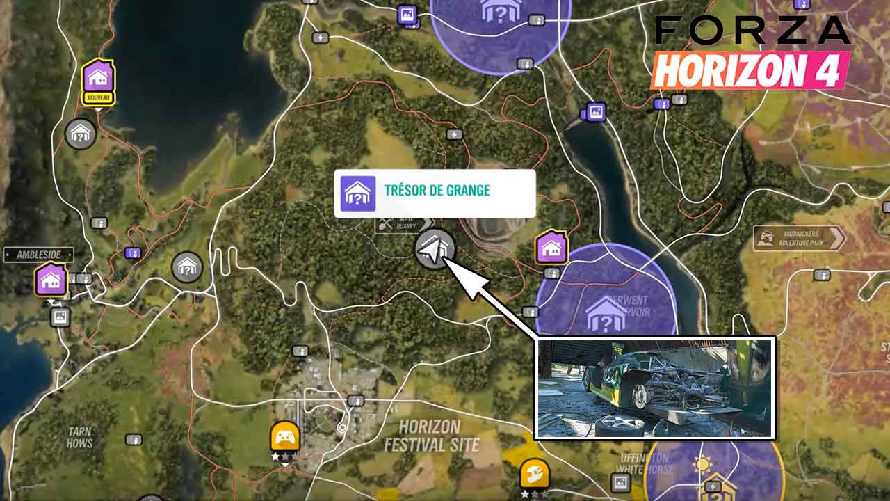 forza horizon 4 carte tresor de grange lotus elise gt1 generation game. Black Bedroom Furniture Sets. Home Design Ideas