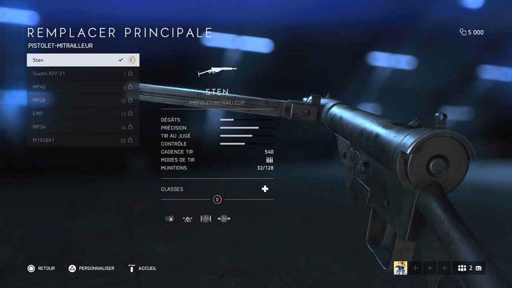 Battlefield-5-sten-fusil-mitrailleur-classe-medecin