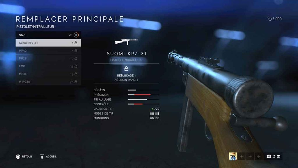 Battlefield-5-suomi-KP-31-meilleure-arme-medecin