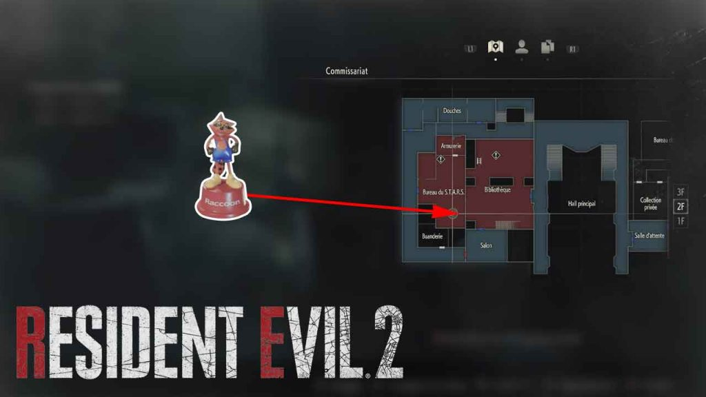emplacement-jouet-mr-raccoon-02-resident-evil-2-remake