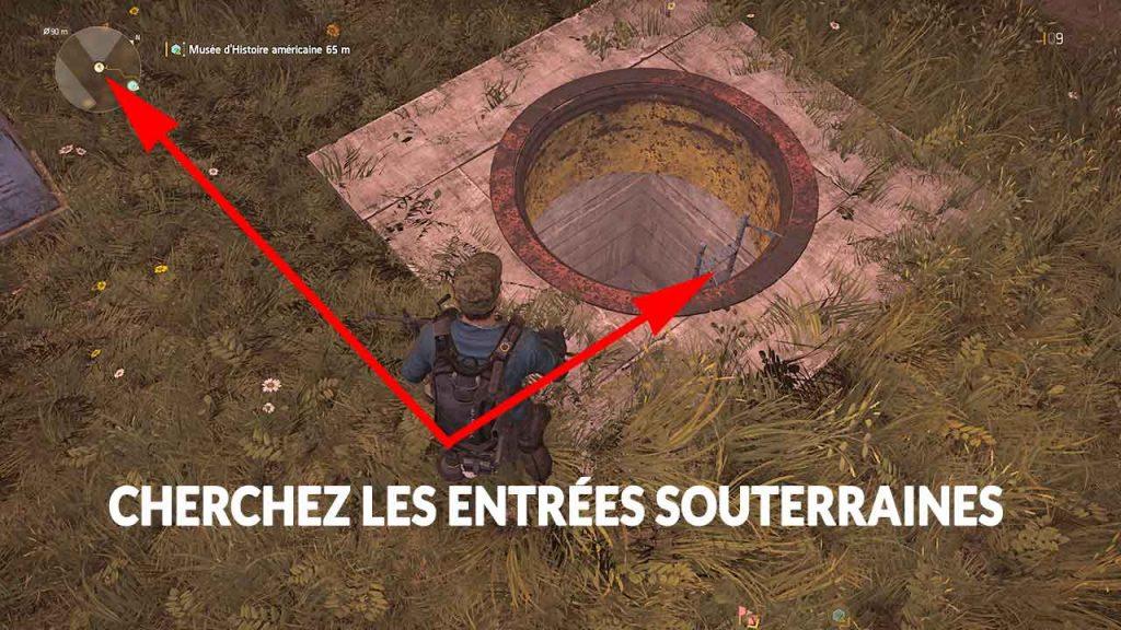 entree-souterrain-obtenir-cle-de-the-division-2
