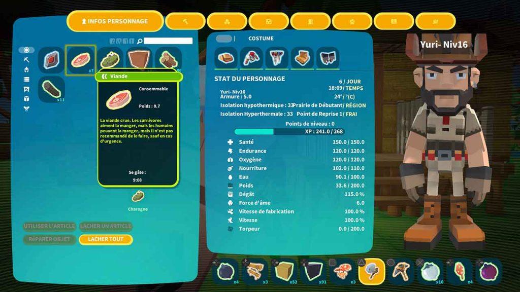 PixARK-menu-interface-du-personnage