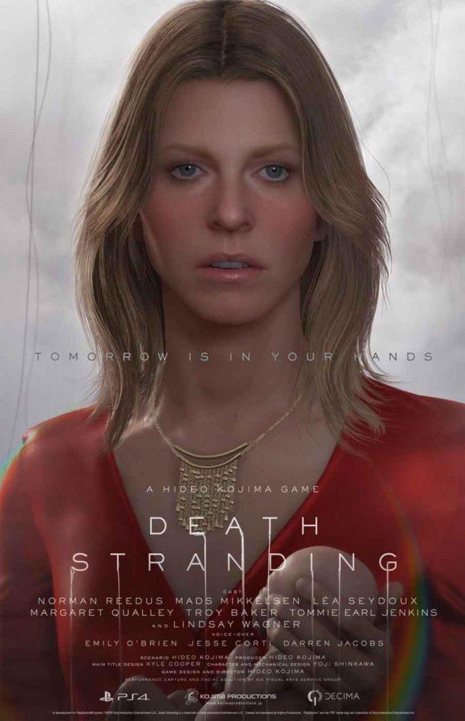 affiche-death-stranding-personnage-amelie-lindsay-wagner