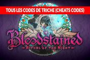 tous-les-codes-de-triche-de-Bloodstained-Ritual-of-the-Night