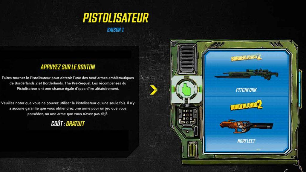 borderlands-3-programme-VIP-pistolisateur