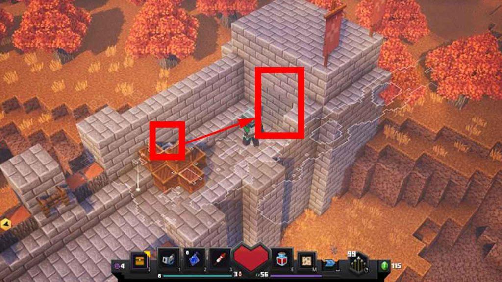 minecraft-dungeons-trouver-rune-secrete-champs-de-citrouille
