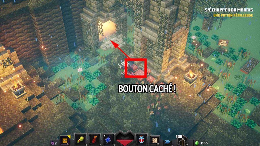 minecraft-dungeons-trouver-rune-secrete-marais-bourbeux
