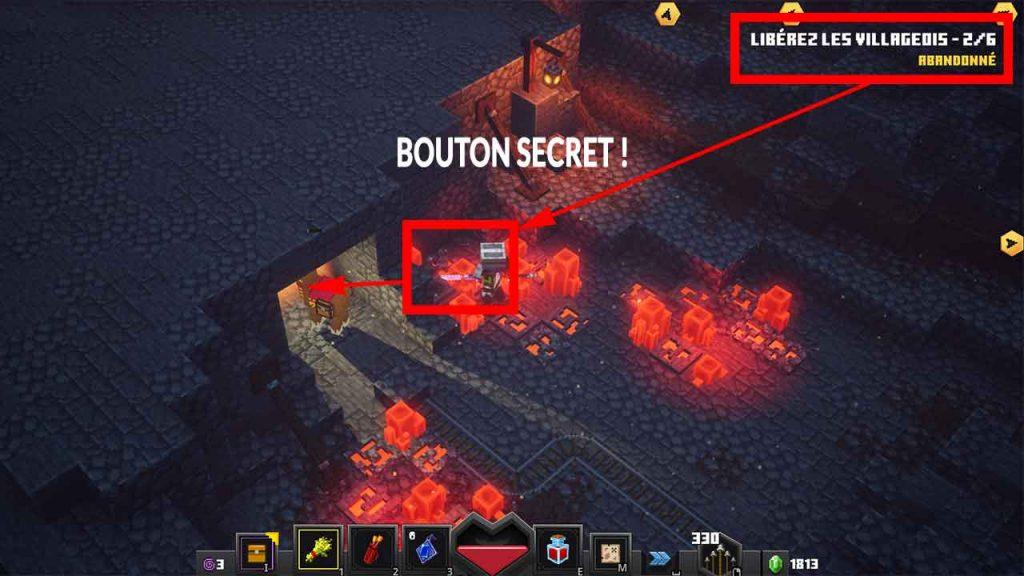 minecraft-dungeons-trouver-rune-secrete-marais-mines-de-Redstone