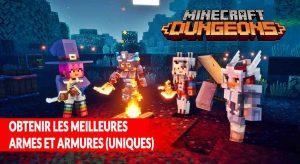 meilleures-armes-et-armures-minecraft-dungeons
