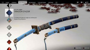Ghost-of-Tsushima-kit-de-sabre-dragon-azur