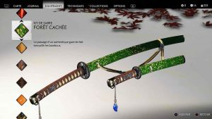 Ghost-of-Tsushima-kit-de-sabre-foret-cachee