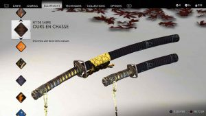 Ghost-of-Tsushima-kit-de-sabre-ours-en-chasse