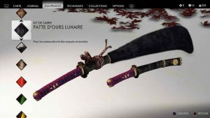 Ghost-of-Tsushima-kit-de-sabre-patte-d-ours-lunaire